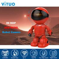 caméra à distance ptz achat en gros de-Caméra IP Robot HD WIFI Moniteur pour bébé 960P 1.3MP CMOS CCTV sans fil P2P PTZ Sécurité audio Télécommande Wi-fi IR vision nocturne YITUO