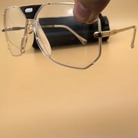 lunettes en or vintage achat en gros de-Top Qualité Design clair Lunettes de soleil en métal FRAME Lunettes de vue vintage Cadre en or Mode Lunettes de soleil pour femme et homme avec Box 905