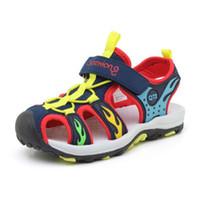 ingrosso scarpe con marchio bambino-Estate bambini scarpe da spiaggia di marca punta chiusa bambino ragazzi sandali ortopedici sport baby boy sandali scarpe da ginnastica per bambini