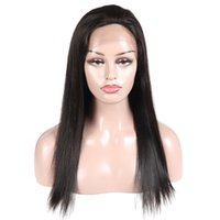 Wholesale fast shipping human hair wigs resale online - 24 Inch Human Hair Lace Front Wigs With Baby Hair Fast Shipping Straight Brazilian Lace Wigs For Black Women By FedEx