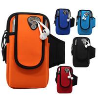 сумочка для телефона оптовых-Sport Armband For 7 6 Cloth Gym Running Pouch Arm Band Hand Bag Case For Xiaomi Huawei Mobile Phone Holder Bag