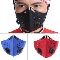 filtre maskeleri yüzü toptan satış-Eğitim Maskesi Trenirovochnaya Maske Bisiklet Yüz Maskeleri Filtre Yarım Yüz Karbon Bisiklet Bisiklet Mascarilla Polvo Eğitim Maskeleri