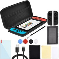 Wholesale Full Range Accessories Carry Case for Nintendo Switch Protective Hard Portable Travel Shell Pouch Joy Con Carrying Bag US Delivery