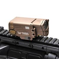 luzes de rifle laser venda por atacado-Tático CNC Terminou SBAL-PL Luz LED Com Laser Vermelho Pistola Rifle Lanterna Constante Momentary Strobe Lanterna Caça