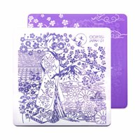 plantillas de dibujos animados al por mayor-CICISISI Estampado de Uñas Plantilla de Imágenes de Impresión de Placas de Arte Stencil Calcomanías de Dibujos Animados Para Las Uñas de Mano Decoración serie de Japón
