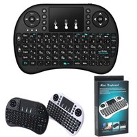 Wholesale english tablets - Mini Rii i8 Wireless Keyboard 2.4G English Air Mouse Keyboard Remote Control Touchpad for Smart Android TV Box Notebook Tablet Pc by DHL