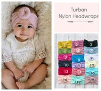 Super soft Nylon Knot Headband For Baby Girls Infant Turban Headwraps Hair Accessory PhotoProp