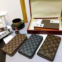Wholesale womens wallets online - with box new PU Leather mens and womens wallets purse card Holders color for pick handbags