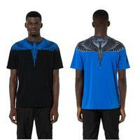Wholesale hooded long sleeve tees men - 2018 New Marcelo Burlon T Shirts Men Women 1:1 Streetwear MB Top Tees Italy Wings Feather Marcelo Burlon T-shirt