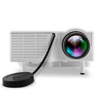 mini multimedya projektörü usb toptan satış-En iyi 2018 Mini Taşınabilir UC28B projektör 500LM Ev Sineması Sinema Multimedya LED Video Projektör Desteği USB TF Kart