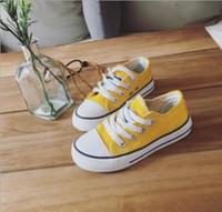 ingrosso boys shoes canvas-Vendita calda 2018 nuovi bambini scarpe di tela scarpe moda ragazzi e ragazze sport scarpe di tela per bambini taglia 23-34