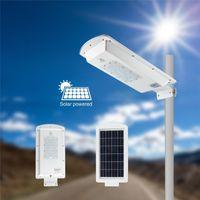 Wholesale Dusk Sensor - 10W 20W 50W Solar integrated Street Light Outdoor Lighting PIR Motion Sensor Dusk to Dawn Security Lights Deck Courtyard Garden Waterproof