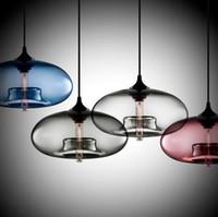 iluminación colgante contemporánea al por mayor-Nuevo Sencillo Contemporáneo Moderno colgante 6 Bola de Cristal de Color Lámpara Colgante de Accesorios de luces e27 / e26 para Cocina Restaurante Cafe Bar