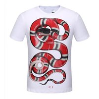 plus größe männer polos großhandel-Neue Modedesigner Polos Printed T Shirts Coole Männer Frauen Marke Große Plus Größe Casual O Neck Kurzarm Sommer Tops Business