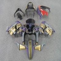 kawasaki zx9r mor toptan satış-Kawasaki ZX9R 1998-1999 ZX9R 98 99 ABS Plastik Fairing için 23colors + 8Gifts mor Vücut Kitmotorcycle kaporta