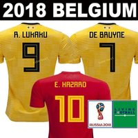 cb31e0a5a 2018 2019 world cup Belgium top thai quality Soccer Jersey 18 19 LUKAKU  FELLAINI E.HAZARD KOMPANY DE BRUYNE football uniforms jerseys shirt