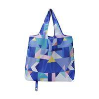 водонепроницаемый торговый тотализатор оптовых-Tote Bag Waterproof Shopping Bag Foldable Handbag Convenient Fashion Eco Friendly Printing Large-capacity Storage