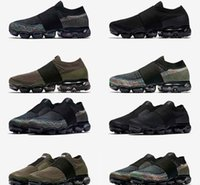 Wholesale spike belts - 2018 New Lab for Vapormax Fly Fashion Racer Casual Shoes Black Men Women Knit Moc Laceless Belt Lightweight Walking Sneaker Size Eur36-45