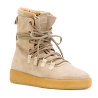 bonitos zapatos casuales de cuero al por mayor-Bonito AEMBOTION Street Style Botas Justin Bieber Botas de moto Zapatos de calidad superior Kanye Weat Hombres Casual Cuero genuino