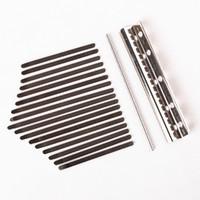 noten für klavier großhandel-Stahltasten für 17 Noten Kalimba Mbira Thumb Piano Percussion Instrument Parts