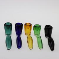 ingrosso supporti tubi-Beracky New Sherlock Glass Spoon Pipes Color economici Tubi di vetro da fumo da 4,0 pollici per il fumo di tabacco Acqua Hand Pipes Supporto OEM ODM