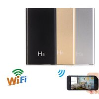 Wholesale battery powered wireless ip camera - 32GB Mini Camera H8 P2P HD 1080P WIFI Mobile Power Bank External Battery Wireless IP Cameras Security DVR Video Recorder Motion Detector