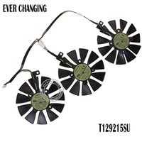 Wholesale new amd - New 87MM Everflow T129215SU 12V 0.50AMP 4Pin 4 Wire Cooling Fan For ASUS GTX980Ti R9 390X 390 GTX1070 Graphics Card Fans