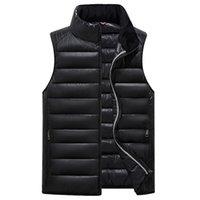 giletweste großhandel-Großhandels-2017 Winter-Mann-Weste-starke warme Baumwollmännliche Weste Sleeveless Reißverschluss-feste zufällige Männer-Jacken-Mantel-Parkas-Kleidung-Weste
