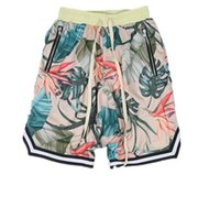 пляжные брюки оптовых-Страх Бога шорты Мужчины Женщины 2017 новый цветочный 1987 коллекция туман fearofgod пляж меня короткие стрейч пот бегун шорты повседневные пляж брюки