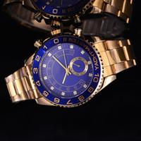 44mm golduhr luxus großhandel-44mm uhr männer big bang Neue marke armbanduhren luxus herrenuhren mode meistertag datum Hohe qualität Gold edelstahl quarzuhr