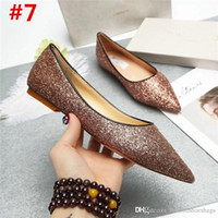 Wholesale low heel patent leather pumps - 2018 Fashion Ladies Jimm FC Choo Aza Nude Patent Leather Pump Pointy Toe Low Kitten Heel Shoe Heel Pump With Box