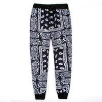 ingrosso bandana hiphop-pantaloni jogging di hip-hop di pantaloni della tuta di hip-hop di Bandana KTZ grafica pantaloni da uomo / donna Spedizione gratuita