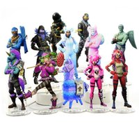 Wholesale acrylic plastic products - 23 Styles Fortnite Action Figures Cartoon Fortnite Toys Acrylic Collection Decoration for Children Gift Party Decorations CCA9990 65pcs