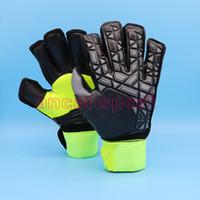 Wholesale Plain Black Gloves - Predator Allround Latex Soccer Professional Goalkeeper Gloves Goalie with fingersave FootballBola De Futebol Gloves Luva De Goleiro