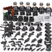 военное оружие оптовых-WW2 строительные блоки игрушки дети legoinglys военные 6PZ городской полиции SWAT команда армии солдат с воздушным оружием вертолет