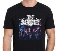 dessins de cou de bande achat en gros de-T-shirt Noir T-shirt Noir T-shirt Noir