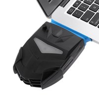 Wholesale cool laptops for sale online - hot sale Vacuum Portable Notebook Laptop Cooler USB Air External Extracting Cooling Fan with Manual Speed Control Knob for Laptop