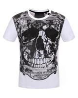 Wholesale Tshirts Slim Sleeve Mens - Hip Hop Skull Print T-shirt Short Sleeve 2018 Summer Streetwear Medusa Mens Casual Slim Tshirts Tee Shirt