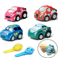 Wholesale Rc Cars - 4 Colors Gravity Sensing 4CH RC Car Gesture Control Cars with Wearable Watch Controller Remote Control Car Gift for Kids CCA9462 36pcs
