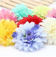 gerbera sonnenblumenstrauß großhandel-1Pcs 9.5cm Silk Blume Sunflower Blume Köpfe Bouquet Daisy Gerbera Kranz Rose Hochzeit Blumen DIY dekorieren Materialien