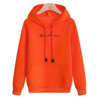 толстовки с капюшоном оранжевого цвета оптовых-fashion orange hoodies men's sweatshirts solid color casual hooded pullovers hip hop streetwear  clothing hoody coat male