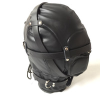Wholesale face masks sex for sale - Group buy Hot Sex Product New Soft Leather Bondage Face Mask Eyepatch Gagged Headgear Adult BDSM Sex Toy Bed Game Set