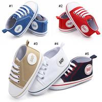 säuglinge gehen schuhe großhandel-5 Farben Neueste Baby Leinwand Schuhe Herbst Baby Ersten Wanderer Schuh Infant Schuhe Mädchen Erste Walking Baby Schuhe Fabrik Preis