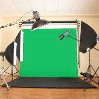 ingrosso sfondo musulmano verde-10X10ft / 300x300CM Chromakey Green Screen Mussola Green Screen Screen Contesto fotografico Studio fotografico di sfondo