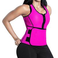 gilets 4xl achat en gros de-Taille Cincher Sweat Vest Trainer Tummy Gaine Contrôle Corset Body Shaper pour Femmes Plus La Taille S M L XL XXL 3XL 4XL