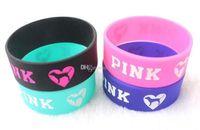 Wholesale cosplay wristband for sale - New Style Pink Heart Wristband Bracelet Master Roshi Kame Sennin Cosplay Silicone Bracelet Gift