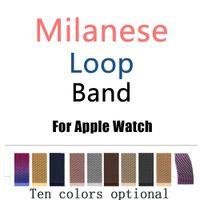 bilezik serisi toptan satış-Yeni satış Milanese Döngü Bant Apple Ürünü için 38 / 42mm Serisi 1/2/3 Paslanmaz Çelik Kayış Kemer Metal Kol Bilezik Değiştirme