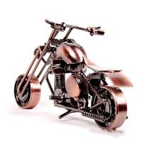 artesanías caseras hechas a mano al por mayor-Arte de hierro trompeta de la motocicleta muebles para el hogar joyería hecha a mano de la oficina de artes artesanía decoración 10 5lc gg