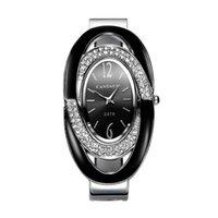 дамы браслет горный хрусталь браслет смотреть оптовых-2018 роскошные горный хрусталь браслет часы женщины часы из нержавеющей стали женские часы браслет женские часы
