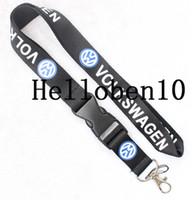 Wholesale Cell Phone Car Keys - VOLKSWAGEN Key Chain ID Badge cell phone holder Neck Strap black .